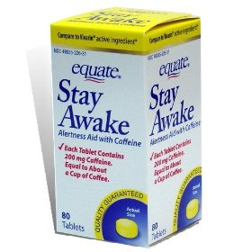 Equate - stay awake - compare to vivarin - alertness aid with caffeine, maximum strength, 80 tablets