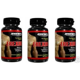 Erexor male enhancement penis enlargement pills - pack of 3 bottles- 180 capsules