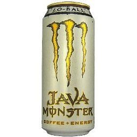 8 pack - monster java coffee + energy - lo ball - 15oz.