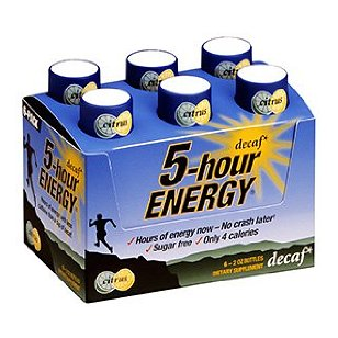 5 hour energy decaf energy shot