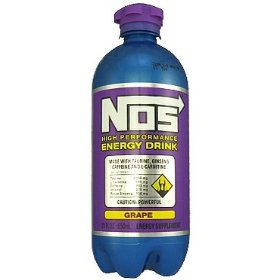 9 pack - nos high performance energy drink - grape - 22oz. bottle