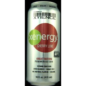 16 pack - xyience xenergy - cherry lime - 16oz.