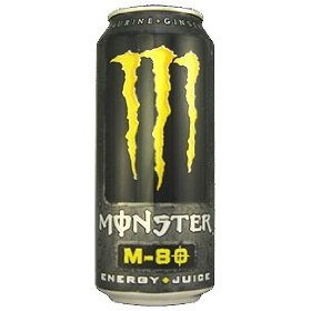 16 pack - monster m-80 energy & juice - 16oz.
