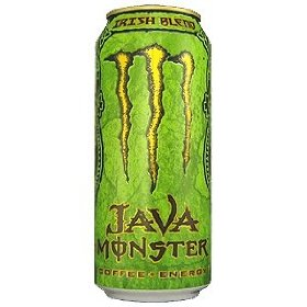 8 pack - monster java coffee + energy - irish blend - 15oz.
