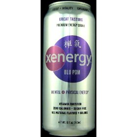 8 pack - xyience xenergy - blu pom - 16oz.