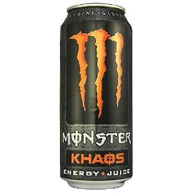 16 pack - monster khaos energy & juice - 16oz.